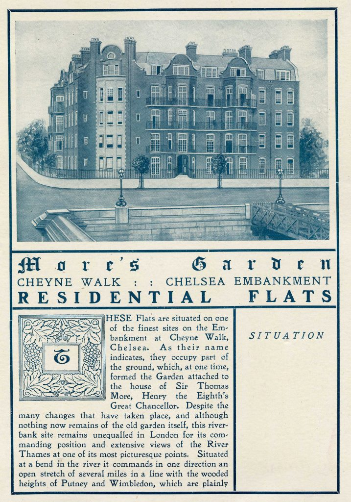 More's Garde sales particulars, 1903 [image courtesy of Kensington and Chelsea archives]