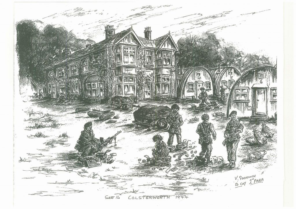 Drawing of Millfield by Vincent Goodwin, 1944
