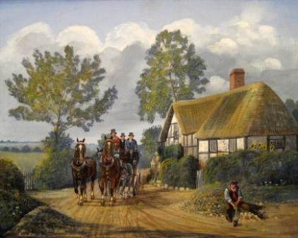 Carriage in a Landscape by Robert Scott Temple
