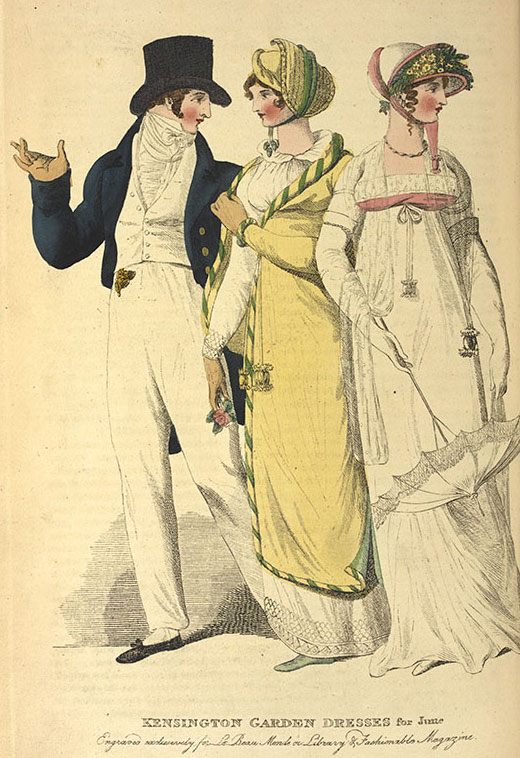 1806-1808 fashions (image courtesy of British Library)