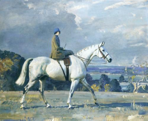Beryl Riley-Smith on Snowflake by Alfred Munnings, 1925